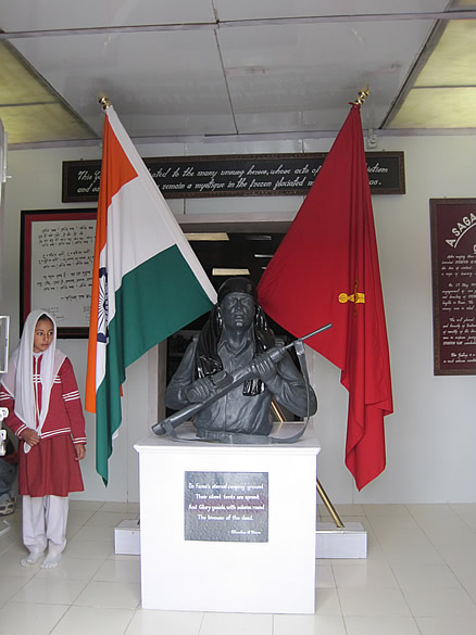 At the entrance of the memorial in honour of Operation Vijay