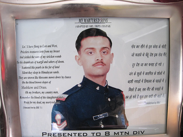 In Lt Vijayant Thapar`s memory. HE was the undisputed Hero of the Kargil War