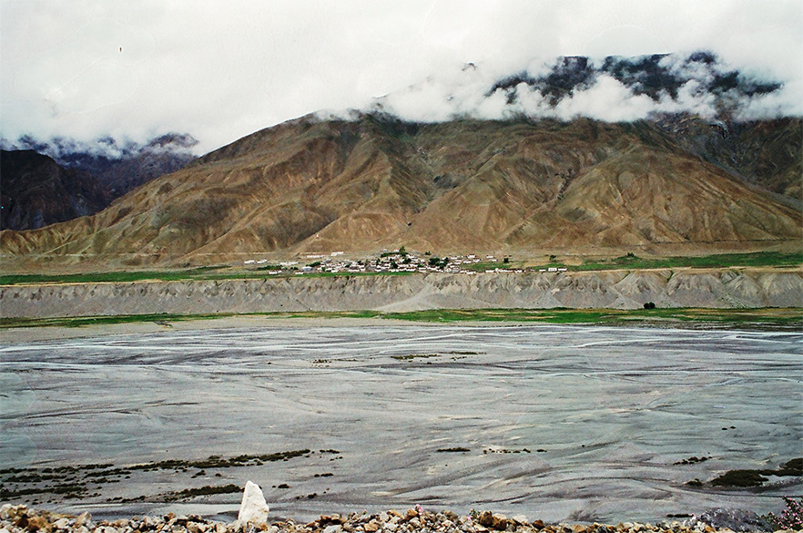A dried up Spiti river.