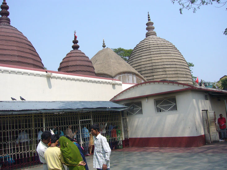 Another view of the temple. The temple is very much ancient in its origin, yet it was restructured in 1665, when it was attacked by the Muslim invaders. The effort of this reconstruction was made by King Nar Narayan of Cooch, Bihar. The spire of this temple is shaped like a beehive.