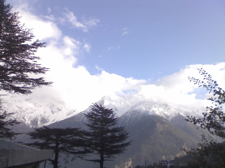 Kalpa, a verdant tourist centre above Reckong Peo, nestled closer in the lap of the Greater Himalayas.