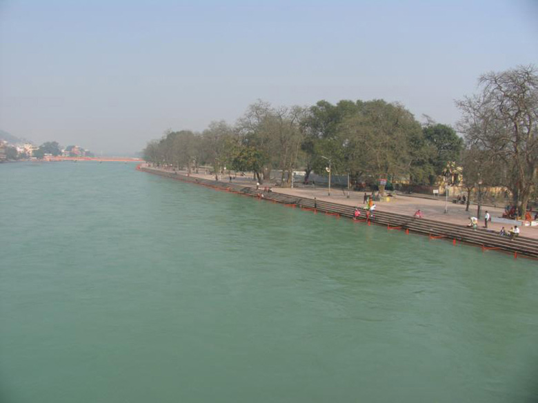 Kumbh means urn or pot, and Mela means fair. You see the well laid out banks for many kilometres along the Ganga in Haridwar.