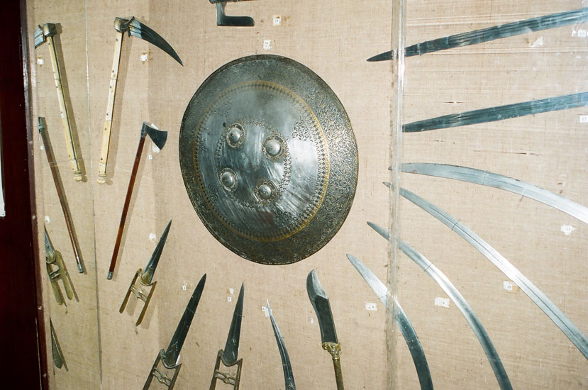 This is the original Dhal (shield) of the Rani of Jhansi that weights 15kgs. As you enter the museum the first section is a collection of Arms.