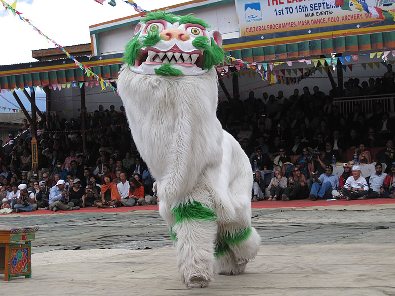 The YAK dance with a white Yak