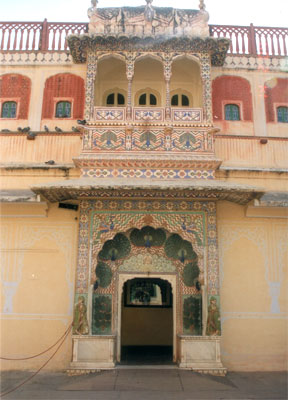 Entrance to a section of the palace. See how the entrance is artistically done.