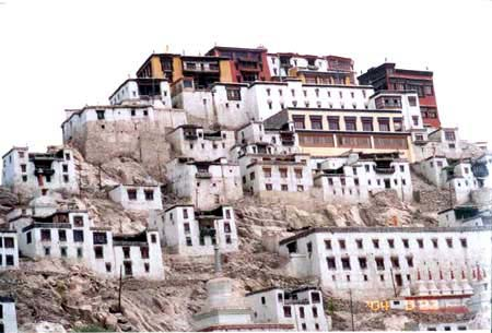 Thiksey Monastery. About 12-15 kms outside Leh. Amongst the better-maintained monasteries.