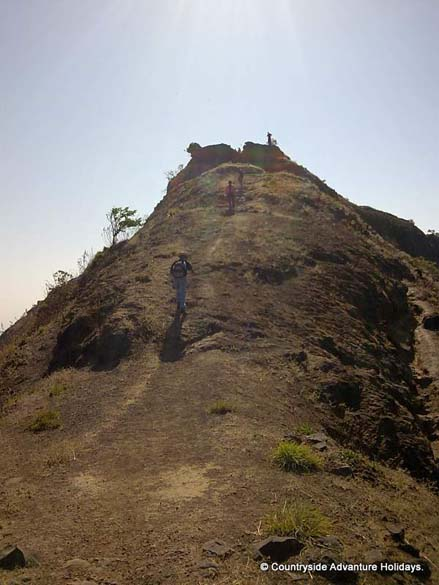 After seeing Vinsukata Point walking towards the Lohagarh Fort. The point is also called Kadelot Point where people who needed to be punished were tied in gunny bags and thrown down the mountain.