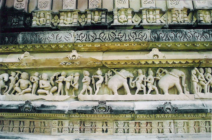 Lower panel of temple.