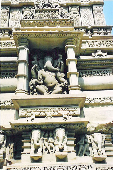 Lower panel of temple Lord Ganesha.