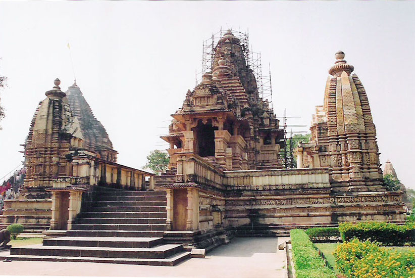 Front view of temple with Matangeswara Temple in background.