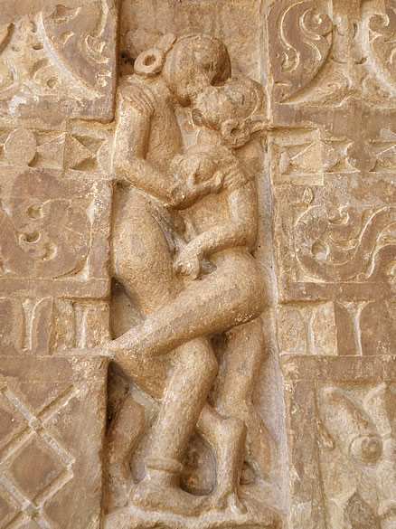 Love making scene on one of the sculptures. These images remind me of Khajuraho.