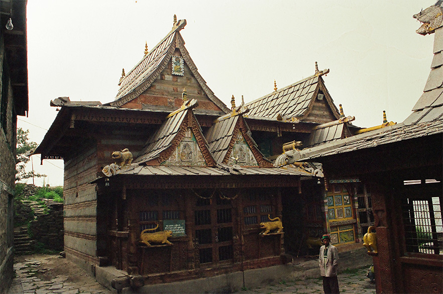 Narayan / Nagdevta temple - note its all woodwork unlike stone temples of Chamba Valley in Himachal Pradesh.