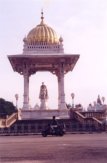 The statue is that of Maharaja Chamaraja wadiyar ruler between 1881-1894.