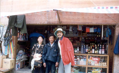 This Chinese couple were one of the many money changers whom we met.