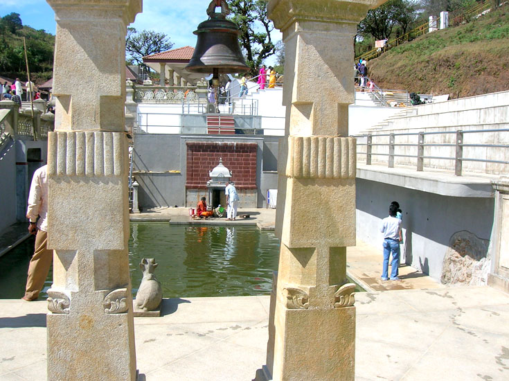Views of Tala Kaveri tank and temple