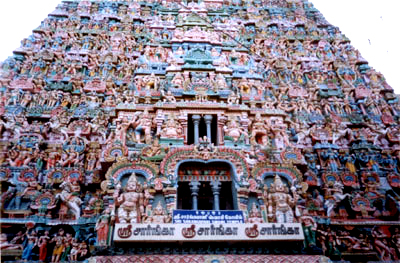 A closer view of the Gopuram. How did they make it?