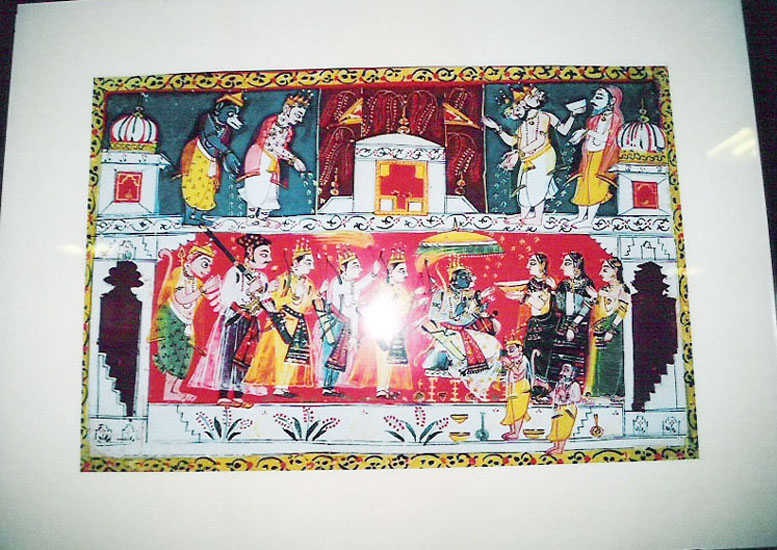 The picture you see is of Gods showering flowers on Rama & Sita after his coronation as known in the Ramayana. Bundlekhand region includes parts of modern day Madhya & Uttar Pradesh. Jhansi is in UP, the next few pictures are in Orchha.