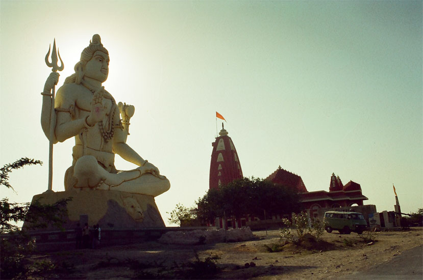 About an hour s drive from Dwarka. It has a huge Shivji`s statute and new temple. The entire complex was sponsored by the T series music baron the late Gulshan Kumar who was gunned down in Mumbai allegedly at the behest of the Karachi based underworld. Here is an overview of the complex.