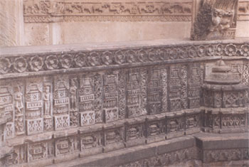 A closer view of the carvings between two floor balconies as explained in the last but one slide.