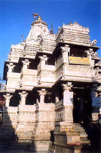 Very close to the entrance to City Palace is Jagdish Mandir ie what you see. It was built by Maharana Jagat Singh II in 1662. Built in Nagar style from the basement it is divided into three parts, 'Pith, Manduvar & Shikhar'. Outer parts of temple are well