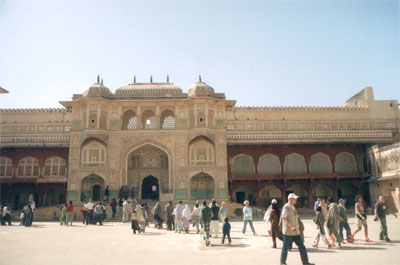 What you see is the Diwan-I-Am or Hall of Public Audiences.