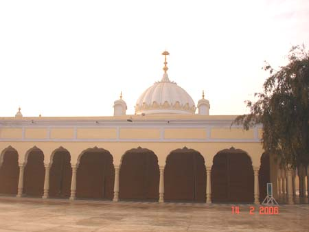 Another view of the Nankana Sahib from the back.