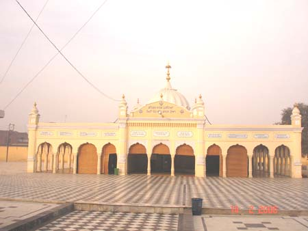 This is front view of Nankana Sahib.