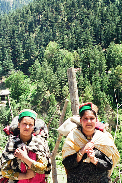 The women of Sangla, good looking with a great complexion.