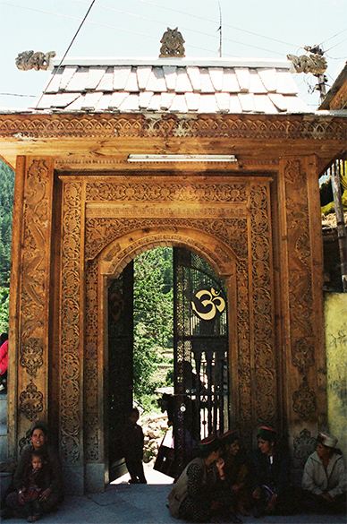 Entrance to Nag Devata Mandir, admire the woodwork.