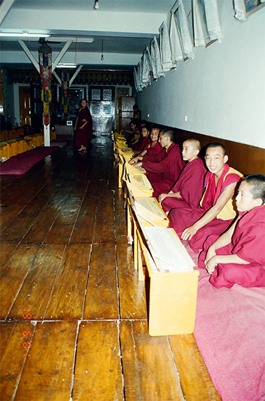 A Gurukul inside the temple complex.