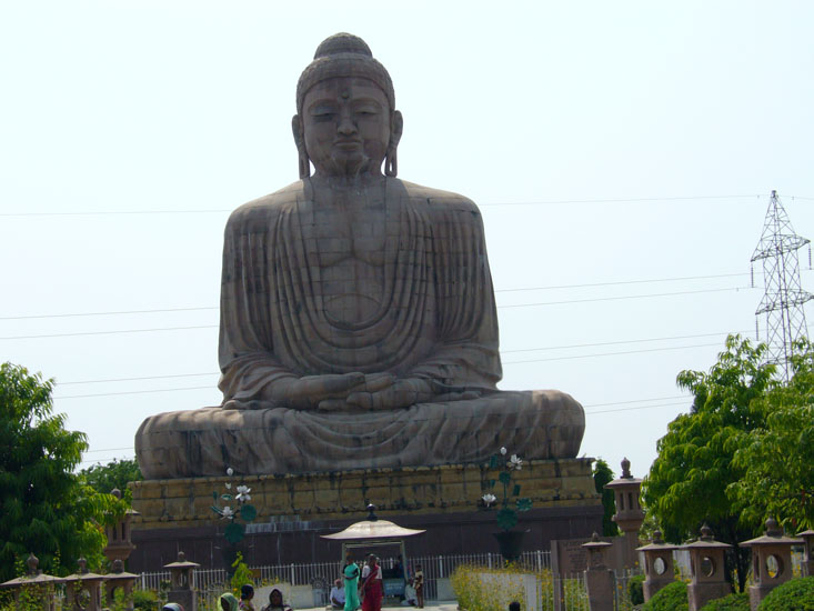 Bodhgaya is one of the most important and sacred Buddhist pilgrimage center in the world. It was here under a banyan tree, the Bodhi Tree that Gautama attained supreme knowledge to become Buddha, the Enlightened One. You see an icon of Lord Buddha.