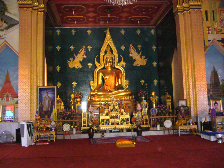 An icon of Lord Buddha inside one of the many monasteries.