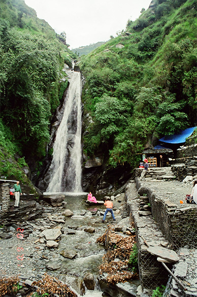 Waterfall is a 2-3 kms-exciting trek from Bhagsunath Temple.