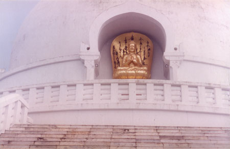 Sitting Buddha is almost identical to the one in Rajgir.