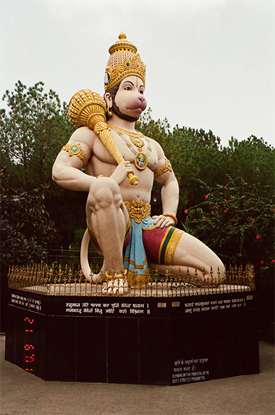 Lord Hanuman in the Chinmaya Tapovan Trust, 9kms from Dharamshala