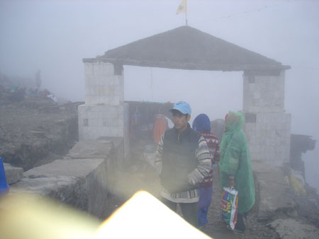 "Entry to Hemkunt Sahib area. W.H. Mcloed wrote in the History of Sikhism, ""At 4,636 metres is Hemkunt. This spot is said to be the place where Guru Gobind Singh prior to his human birth, engaged in austerities. These austerities are described in Bachitar"