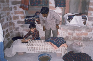 Block printing a specialty of Rajasthan