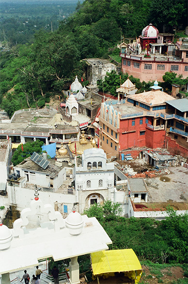 Jawalamukhi temple 56 kms from Dharamshala is the famous temple of goddess Jawalamukhi or the Flaming Goddess. It is built over some natural jets of combustible gas believed to be the manifestation of Devi Bhagwati Jawalamukhi. Mughal Akbar tried to quenc