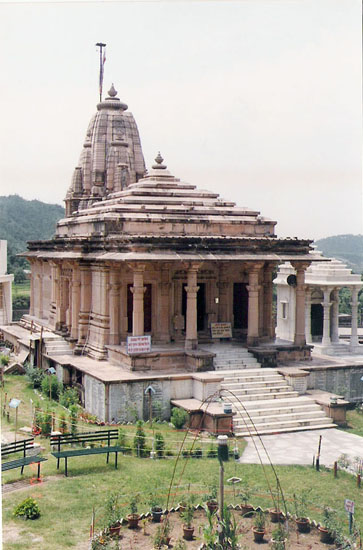 The Adhinath Temple opposite the fort.
