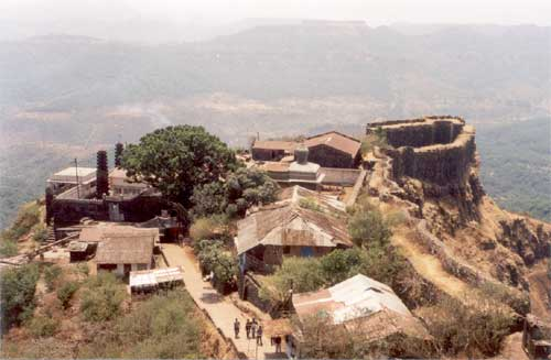 A view of the inhabited area of the fort from the top.