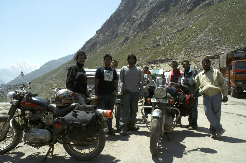 Sarthak & group were on six motorcycles. Altitudes are high. It is very cold.