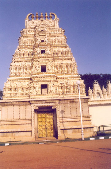 Sri Bhuvaneshvari Temple was constructed by Sri Jayachamarajendra Wadiyar in the year 1951.