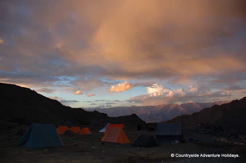 Sunset at base camp.