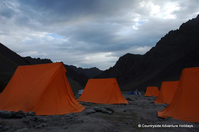 Tents on camp. Next day morning we start trek to base camp.