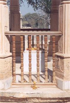 In the Gita Mandir complex near Somnath are the foot imprints of Bhagwan Sri Krishna.