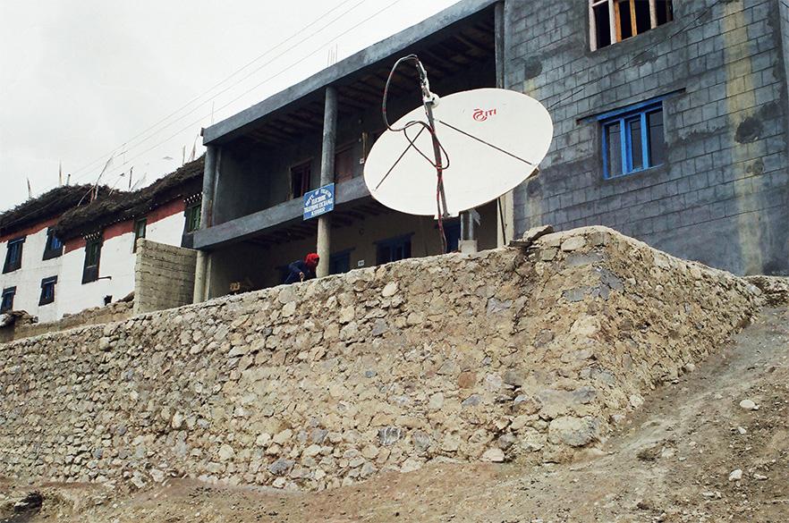 VSAT based telephone exchange in Kibber.