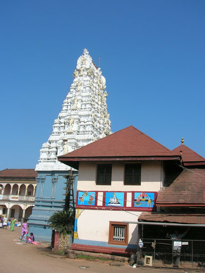 Gopuram in front of Udipi temple