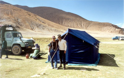 We stayed in tents like these.
