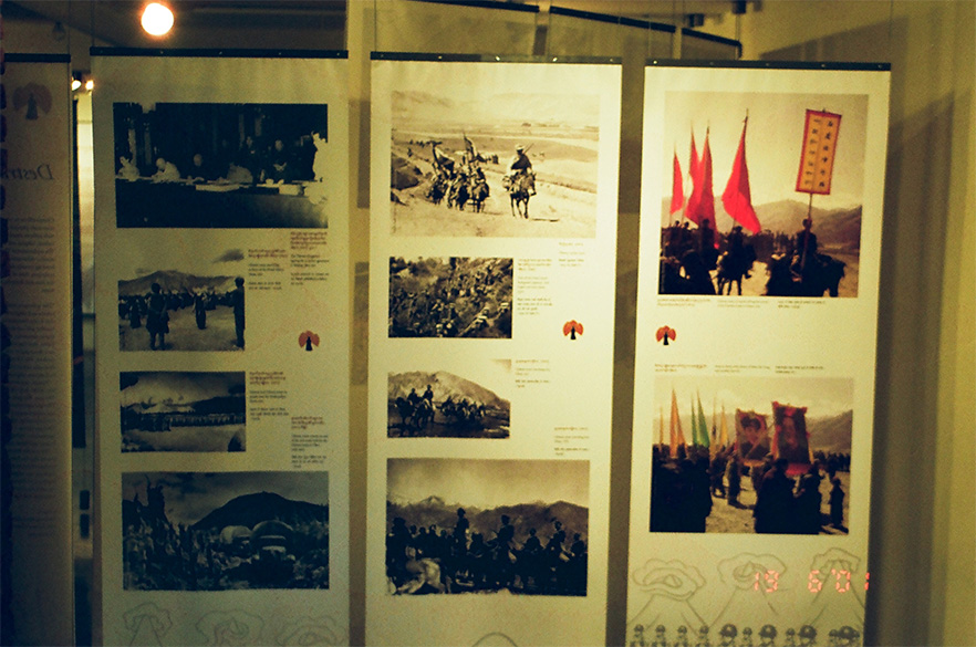 Mcleodganj is the home of Dalai Lama and Tibetans. Picture in the Museum shows the Chinese assault into Tibet.