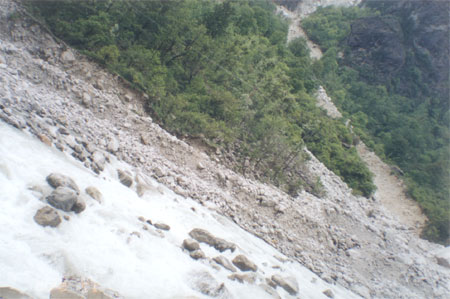 Landslide at Alakananda river. If we do not protect nature we will see more landslides.
